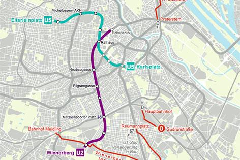 Karte U-Bahn-Ausbau