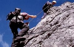 Kletterer im Klettersteig