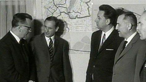 Theodor Kery mit Politikern