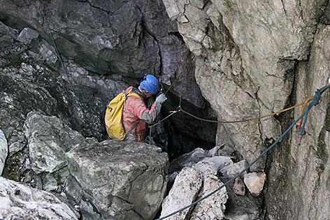 Eingang zur Riesending Schachthöhle auf dem Untersberg