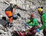 Einsatzkräfte bei abgestürztem Bergsteiger im Hagengebirge beim Windschartenkopf
