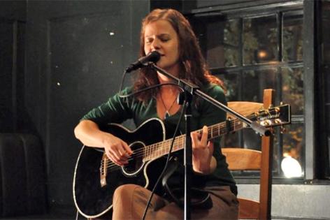 Claudia Heidegger auf der Bühne
