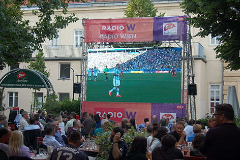 Public Viewing mit Radio Wien