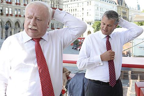 Bürgermeister Michael Häupl mit dem designierten Landesparteisekretär Georg Niedermühlbichler