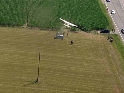 Notlandung Kleinflugzeug bei Irschen