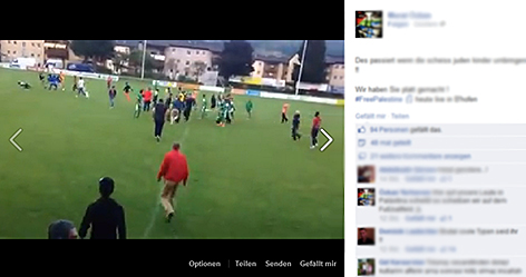 Hassvideo auf Facebook Tumulte und Ausschreitungen gegen Maccabi Haifa in Bischofshofen