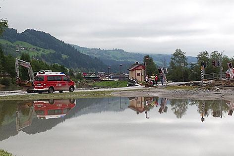 Schäden an der Pinzgauer Lokalbahn bei Bramberg