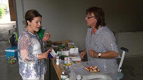 Dreharbeiten in Rust mit Hannelore Elsner