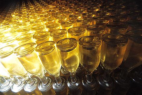Sektflaschen in der Schlumberger Sektkellerei in Döbling