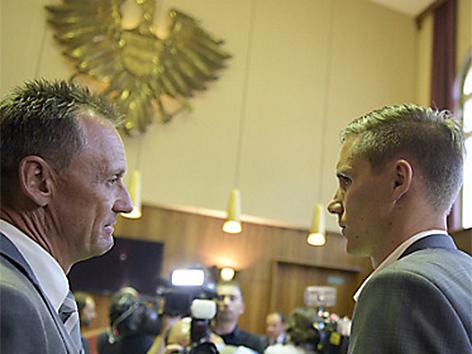 Dominique Taboga mit Anwalt Thomas Moser