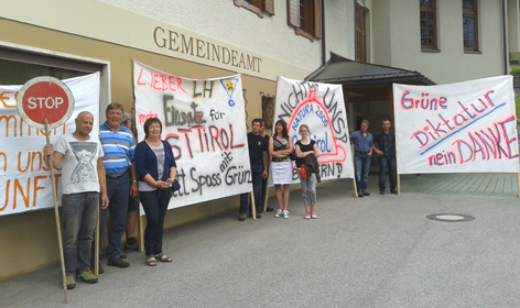 Demonstration in Osttirol