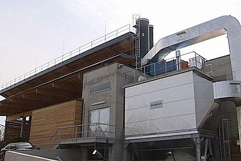 Hackschnitzel Biomasse Heizwerk