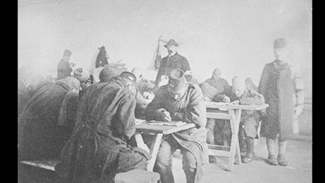 Foto vom  dem Kriegsgefangenenlager im ersten Weltkrieg