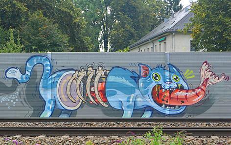Graffiti an ÖBB-Anlagen in Salzburg