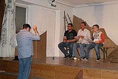 "Theatergruppe Stans ""G'wissenswurm"" Theaterkritiker Szeneproben"