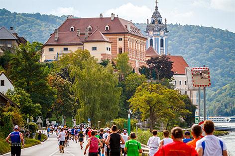 Wachau Marathon in Dürnstein