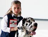 Mädchen mit Dogge