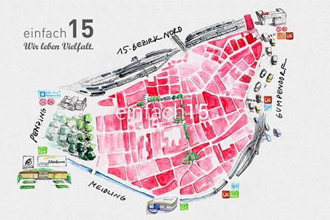 Karte 15. Bezirk