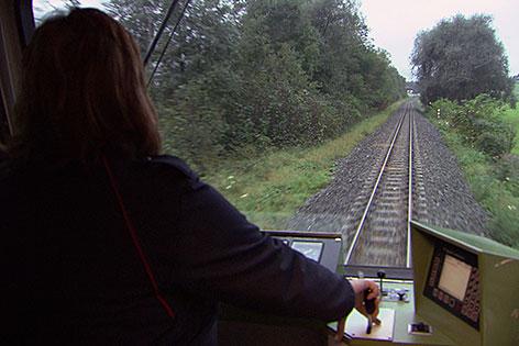 Lokführerin in Pinzgauer Lokalbahn