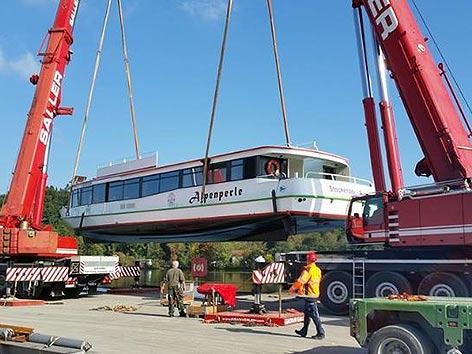 Weißensee Schiff Transport