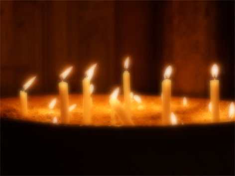 Kerze Friedenslicht