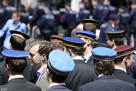 Burschenschafter am Mittwoch, 4. Juni 2014, in Wien