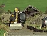 Baustelle für einen Feldweg
