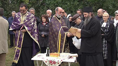 """Gedenkfeier auf dem """"Serbenfriedhof"""" in Frauenkirchen"""