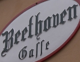 Straßentafel Beethovengasse in Baden