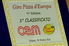 Urkunde für Pizzameisterschaft