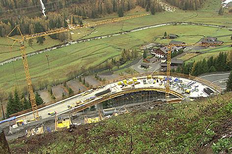 Baustelle der Felbertauernstraße bei Matrei in Osttirol