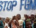 Demonstration von Frauen gegen die weibliche Genitalverstümmelung (Female Genital Mutilation - FGM) in Somalia