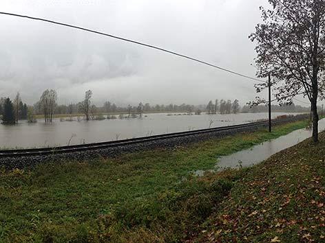 Hochwasser Gail Tröppolach