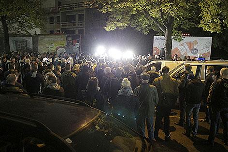 """Kundgebung der FPÖ Simmering mit dem Titel """"Gemeinsam gegen radikalen Islamismus - Keine türkische Imam-Schule in Simmering"""""""