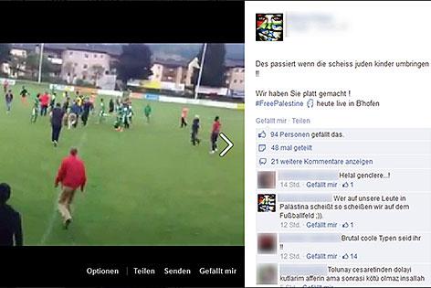 Facebook-Hetze beim Platzsturm in Bischofshofen beim Spiel Maccabi Haifa gegen OSC Lille