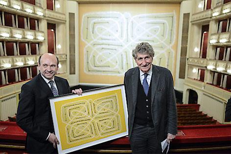 Eiserner Vorhang in der Staatsoper - Meyer und Rhomberg