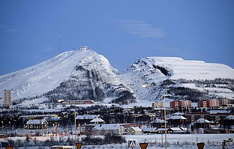 Kiruna im Winter