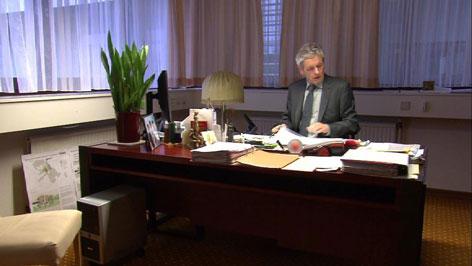 Luipersbeck in seinem Büro