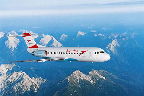 Fokker über den Alpen