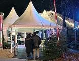 Zelte beim Winterfest im Salzburger Volksgarten