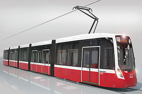 156 stra enbahnen von bombardier wien for How much does a hillside tram cost
