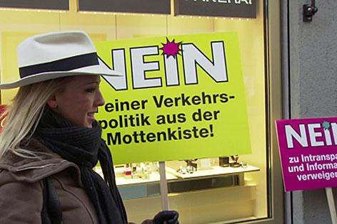Bürgerprotest gegen die Erweiterung der Mönchsberggarage in der Stadt Salzburg