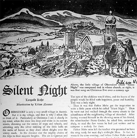 Stille Nacht als politisches Lied