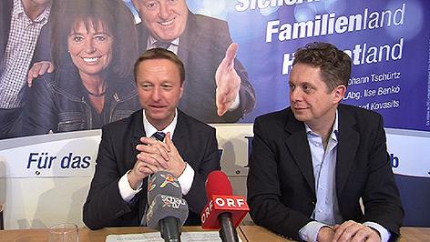 FPÖ-Chef Johann Tschürtz und Klubdirektor Alexander Petschnig
