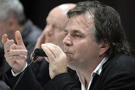 Festwochen-Intendant Markus Hinterhäuser bei Pressekonferenz