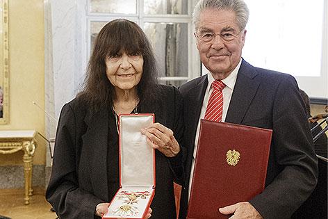 Friederike Mayröcker und Heinz Fischer