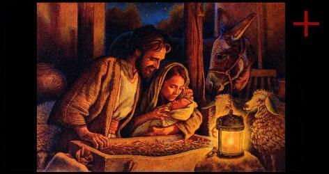 Jesu in der Krippe