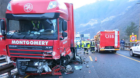 Brennerautobahn Unfall