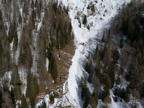 Unglücksstelle Alpinunfall