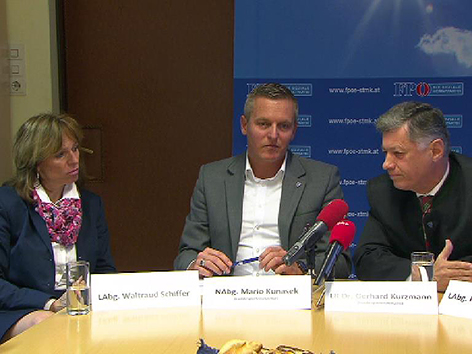 Waltraud Schiffer, Mario Kunasek, Gerhard Kurzmann